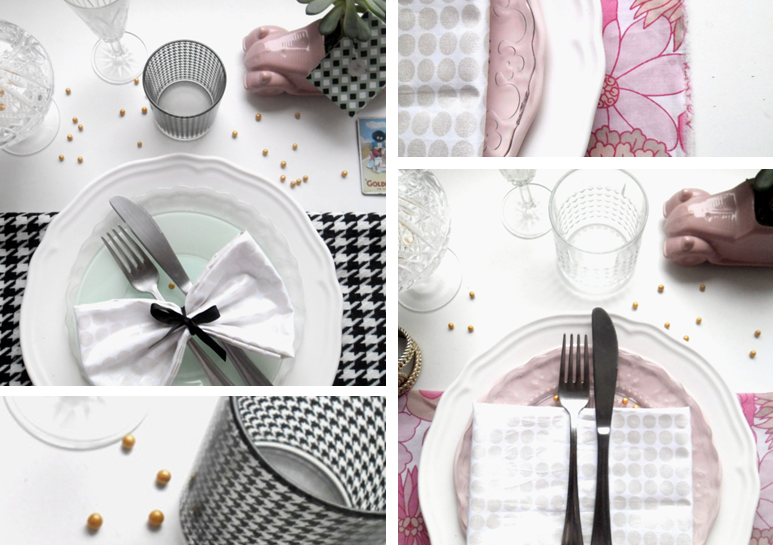 Tables du Nouvel An : Houndstooth Vs Flowers