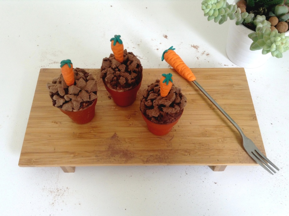 La Easter Party #2 : Carrot (cupcakes) in a pot
