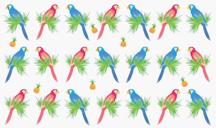 parrots & pineapples