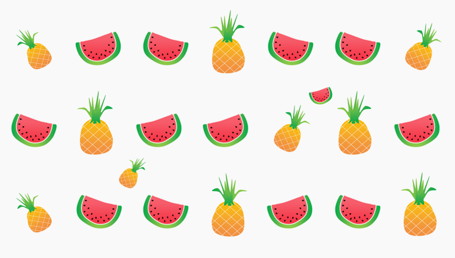 pineapple & watermelon
