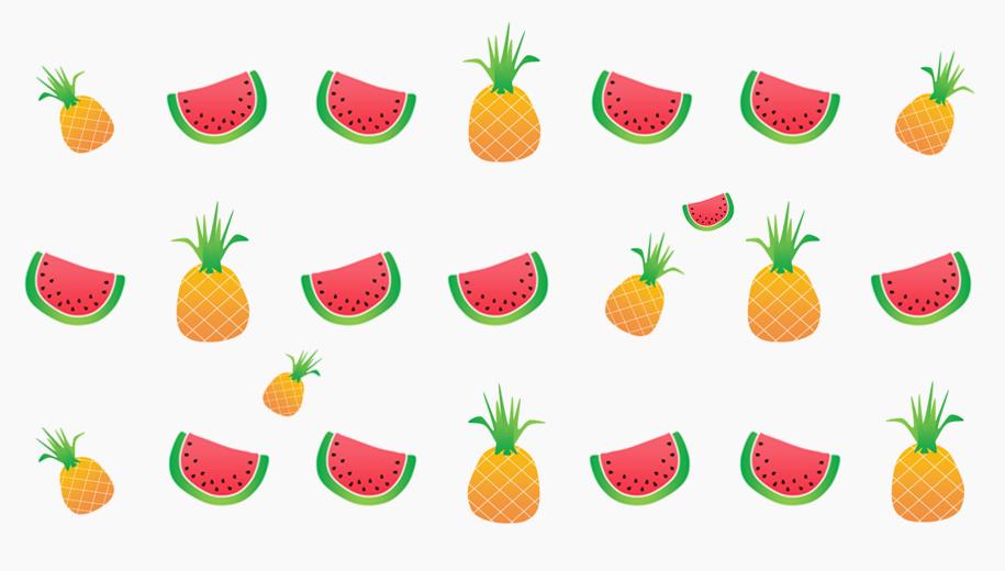 pineapple & watermelon