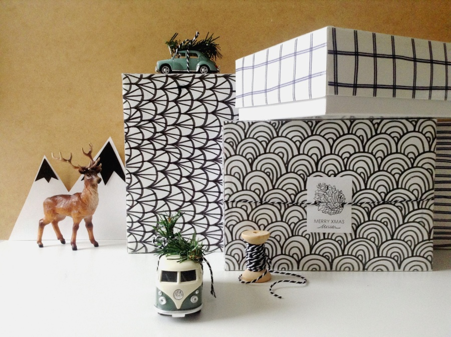XMAS DIY # Wrapping Part II : Encre, papier & My Little Boxes