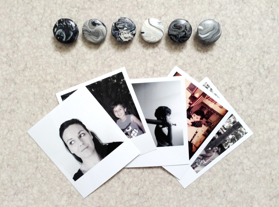 { Little DIY } Marbrellous magnets