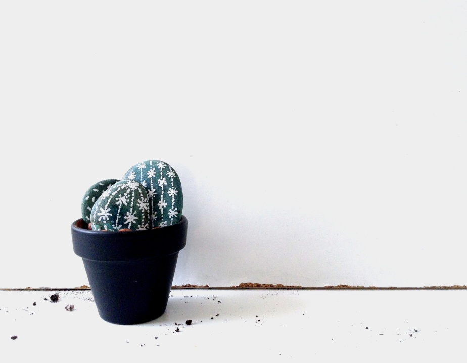 { Little DIY } Cactus Rocks!