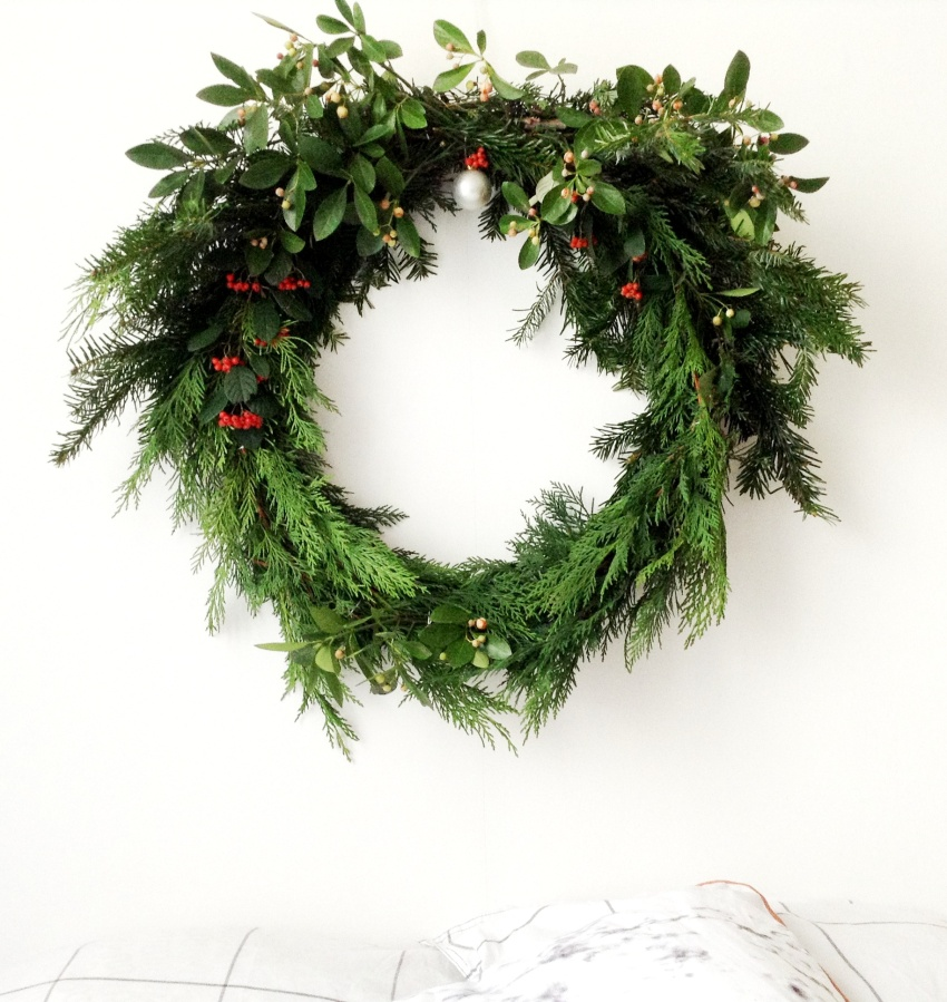 { XMAS DIY } Couronne de Noël au naturel