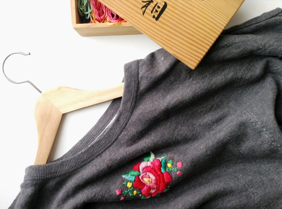 { Little DIY } Couleurs, Fleurs, New Sweater