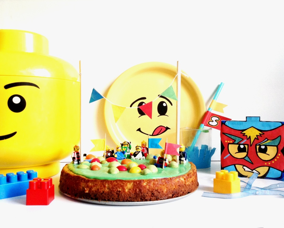 { Happy BIRTHDAY } LEGO Party #4: Say cheesecake ! ( o citron + chocoblanc vert )