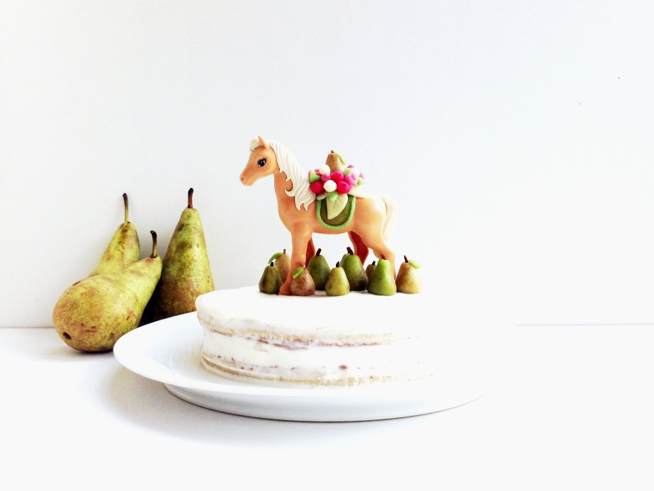 { Happy BIRTHDAY } Hi Ha ! Poires, mascarpone et chocolat.