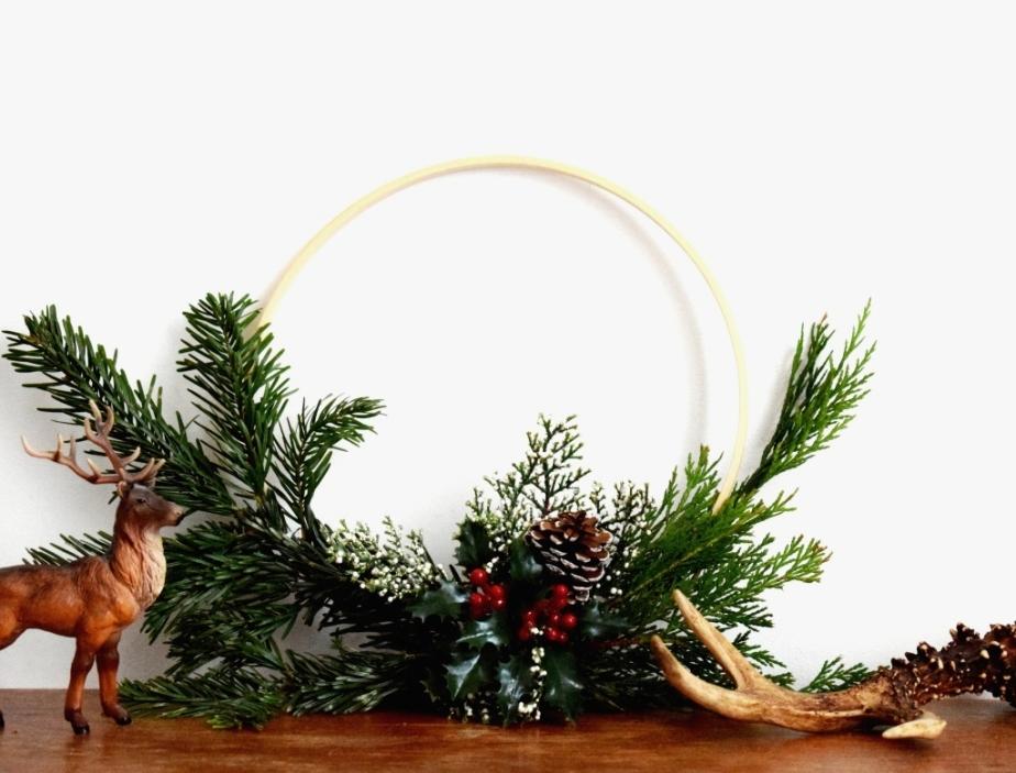 { XMAS DIY } Couronne de Noël (encore et toujours) aunaturel