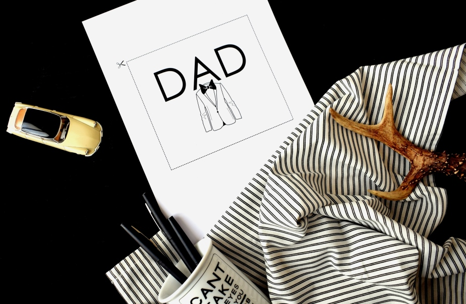 { Daddy DIY } A card for Dad (free printable)